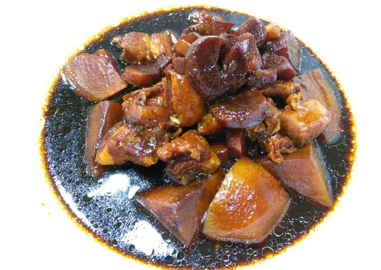Simple Way to Prepare Any night of the week 卤三层肉 Braised Pork Belly