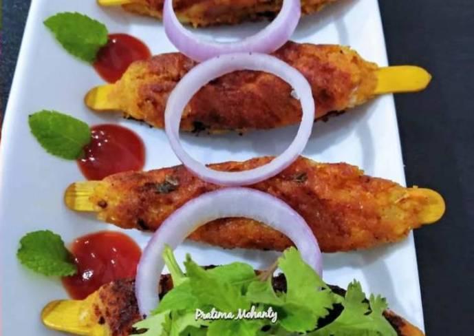 Potato Seekh Kebab
