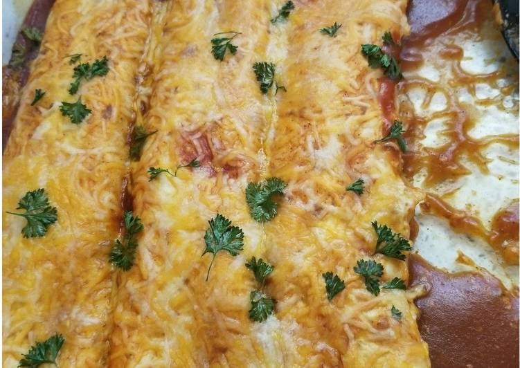Chicken Sour cream Enchiladas