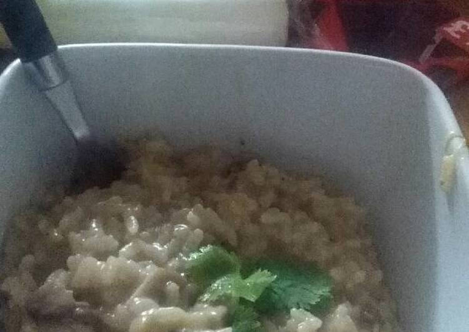 Delicious risotto with leek and mushrooms :)