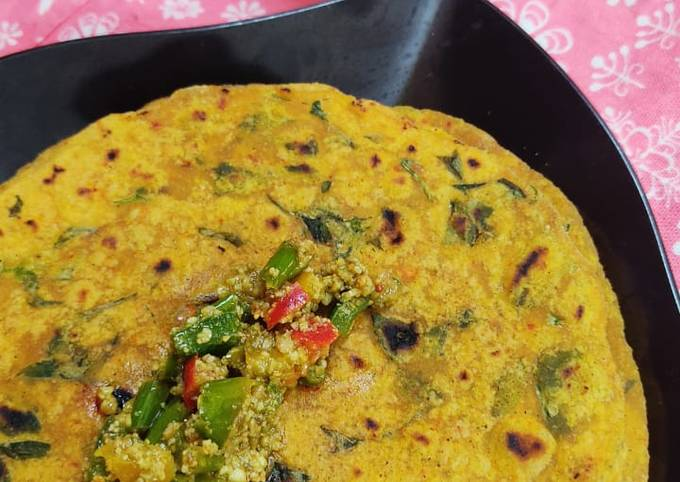 Recipe of Heston Blumenthal Jain methi thepla