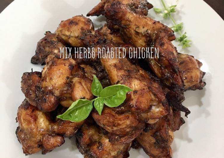 Mix herbs roasted chicken (air fryer)