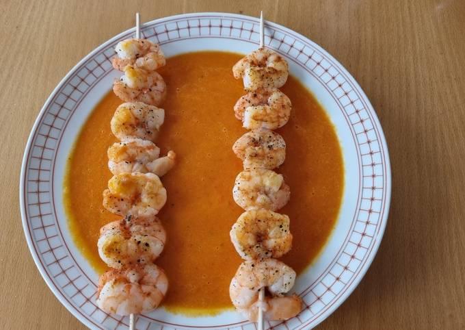 Der einfache Weg Um Ultimative Karotten-Curry-Suppe mit Garnelen zuzubereiten