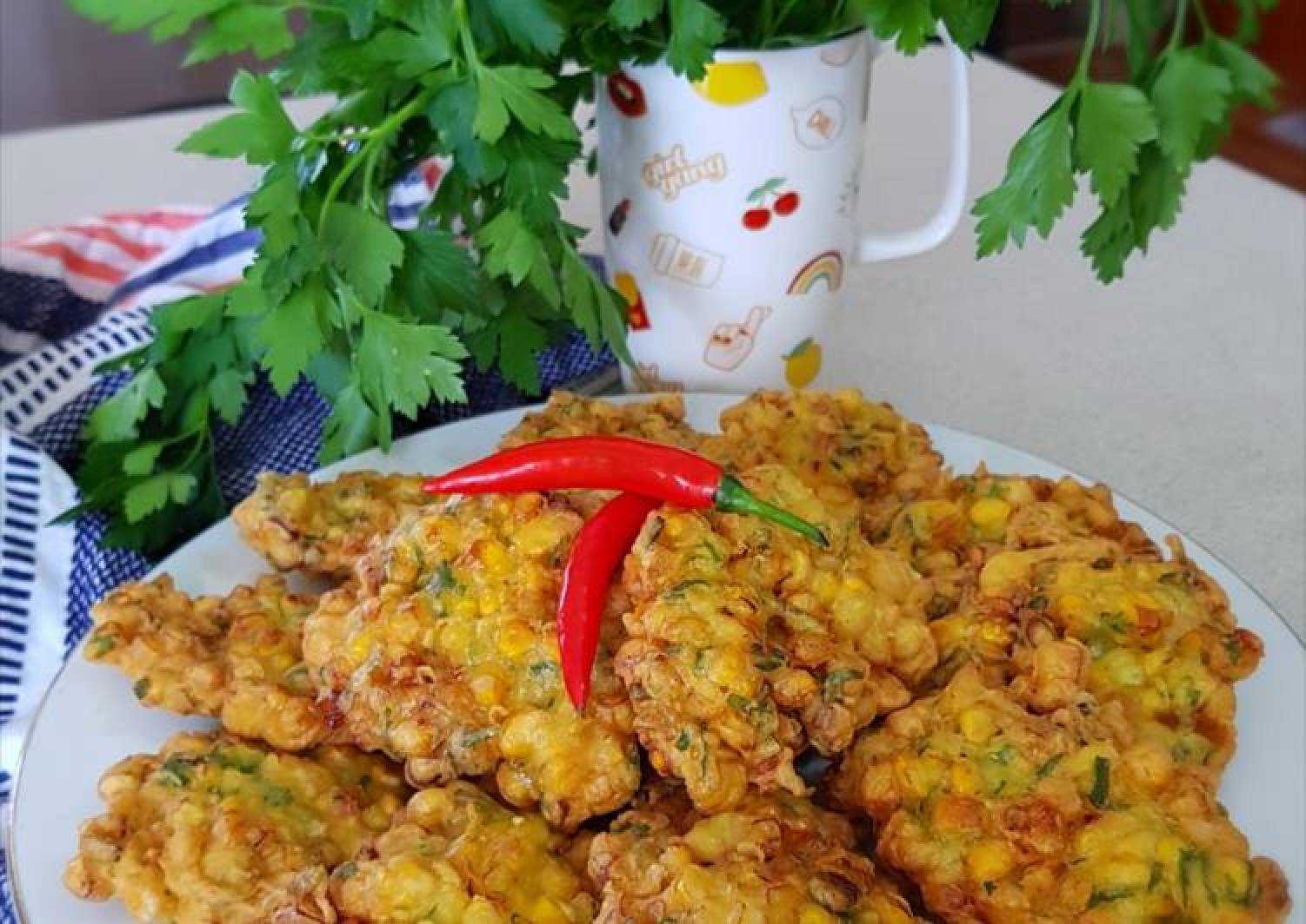 Indonesian Corn Fritters (Dadar Jagung or Perkedel Jagung)