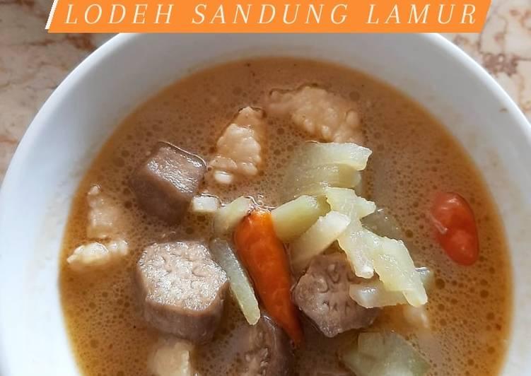 Sayur Lodeh Labu Siam Sandung Lamur