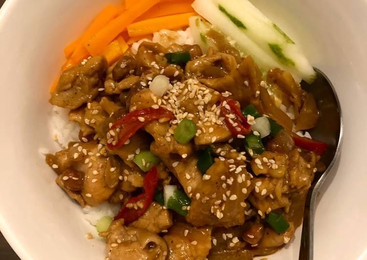 Rice Bowl Kungpao Chicken