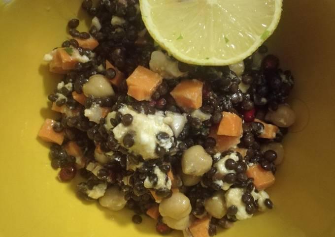 Schritt für Schritt Anleitung Um Hausgemachte Belugalinsen Salat zu machen