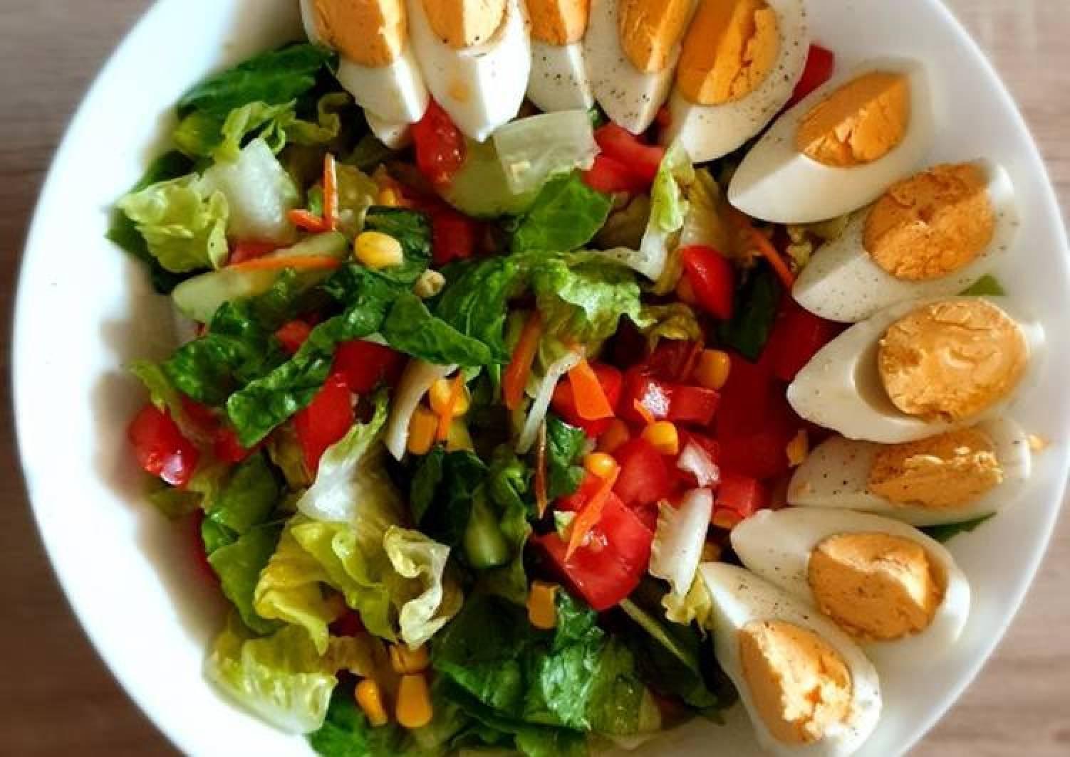 Mixed colorful salad