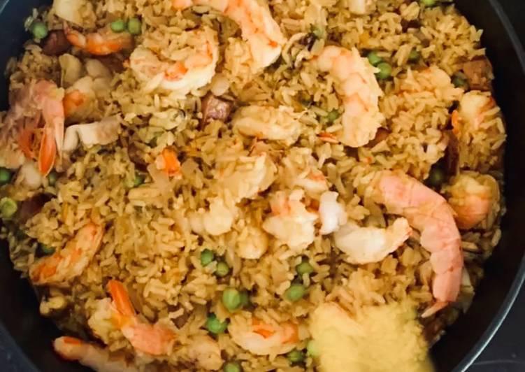Recipe of Favorite Chorizo and Seafood Brown Rice Paella