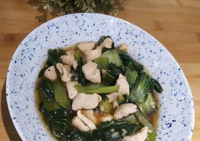 Tumis Pokcoy Daging Ayam