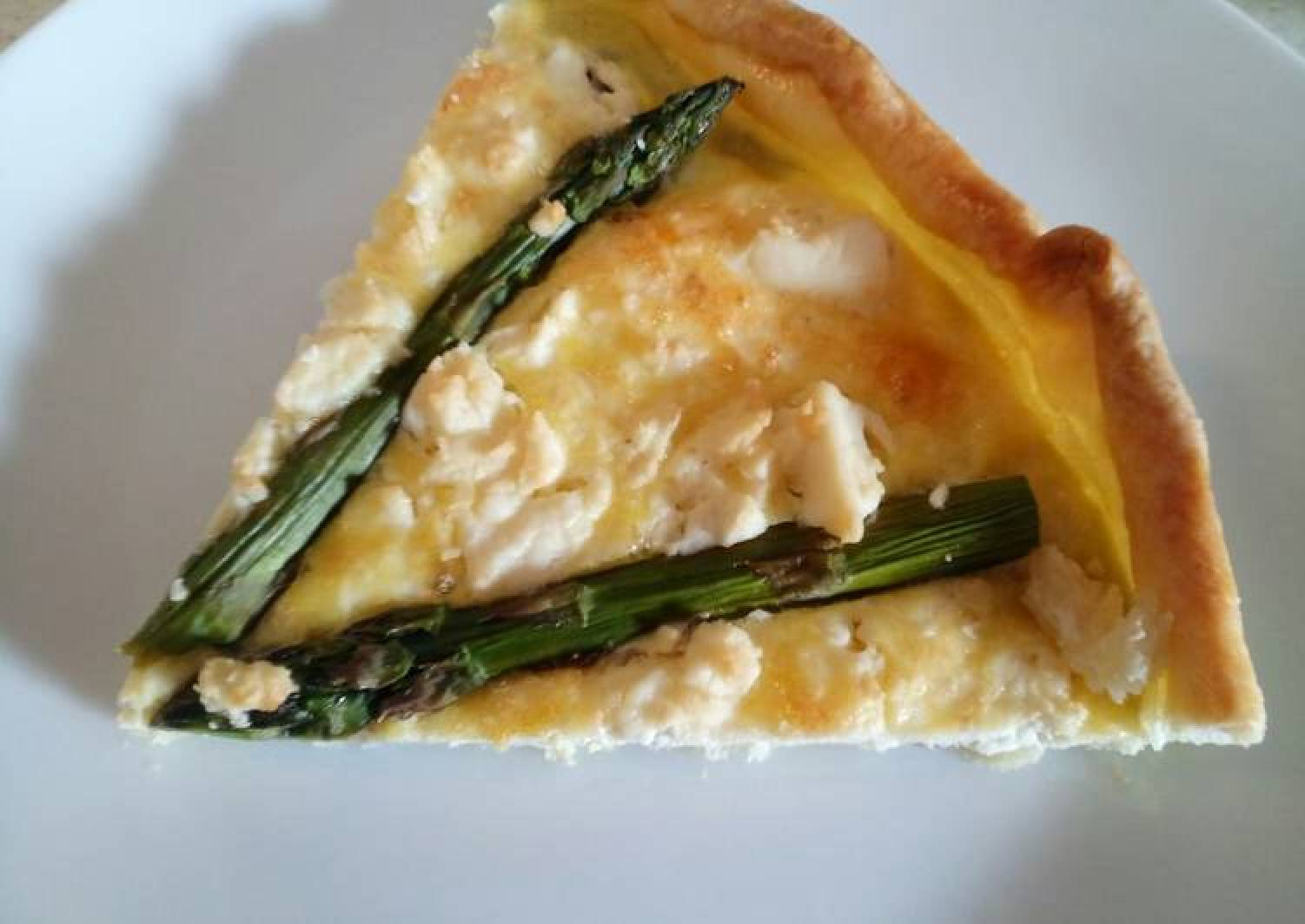 Feta and asparagus pie