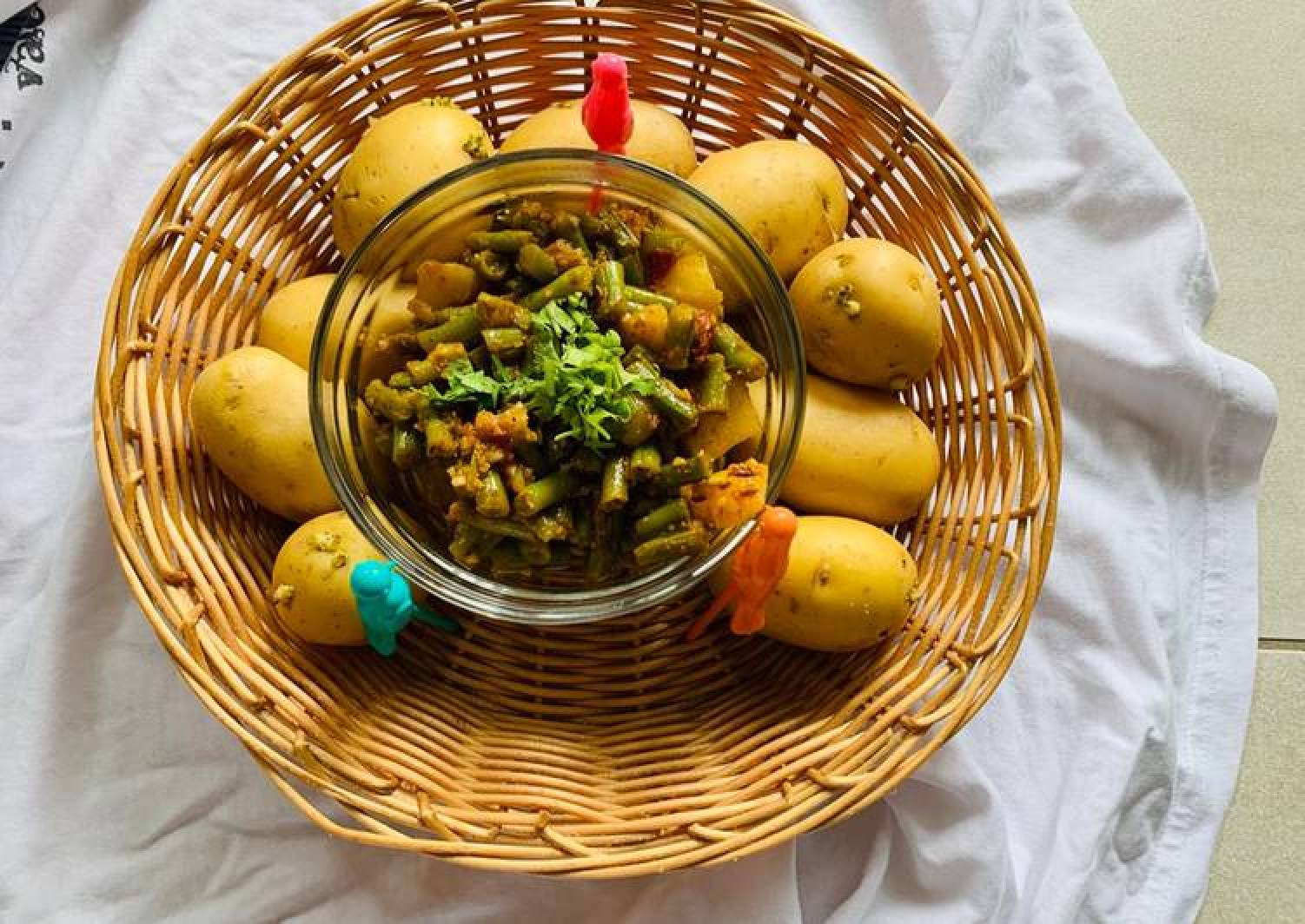 Aloo Beans in 5 minutes