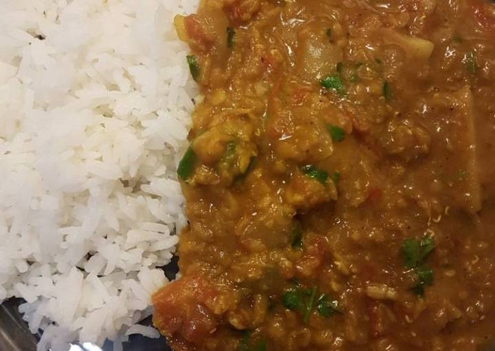 Masoor Dahl (Red Lentil Curry) with Rice