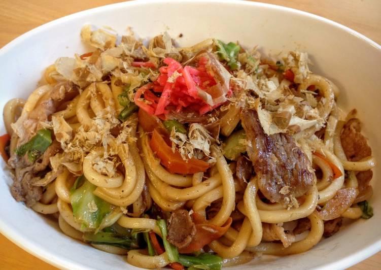 Stir-Fried Udon Noodles