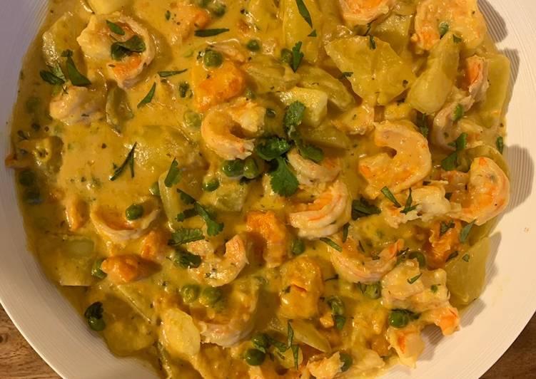 Curry de crevettes au lait de coco 🇹🇭