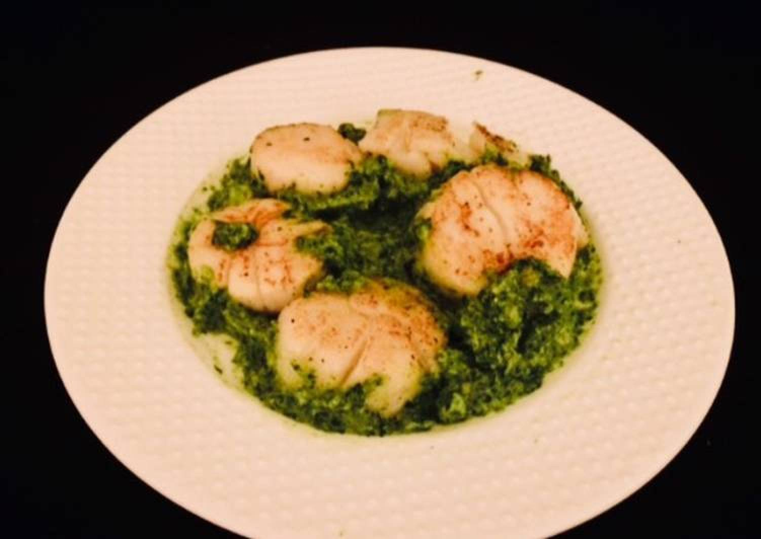 Scallops with Lemony Salsa Verde