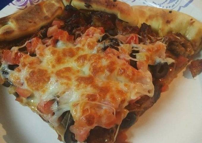 Barbecue Pizza, stuff crust