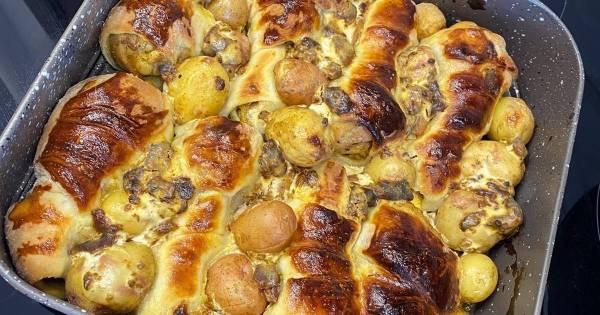 Куриные ножки с картошкой, рецепты с фото (328 пошаговых ...