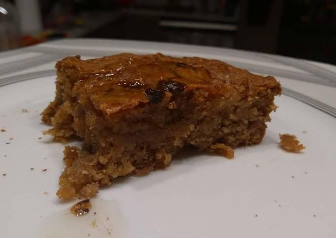 Healthy, vegan, sugarfree, bannana peanut butter cake