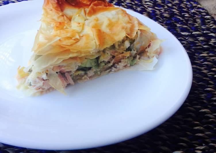 Salmon Phyllo Pie