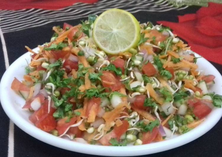 Step-by-Step Guide to Prepare Super Quick Homemade Sprouted Moong Bean salad