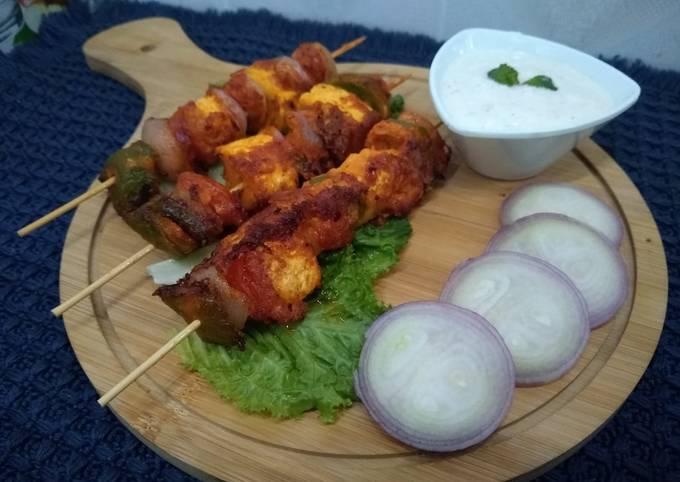 Recipe of Homemade Paneer Tikka