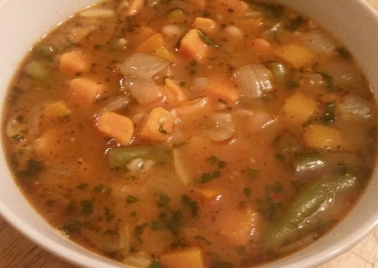 Sweet Potato & White Bean Soup