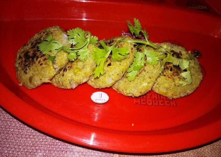 Dry Green Peas Tawa Kebab
