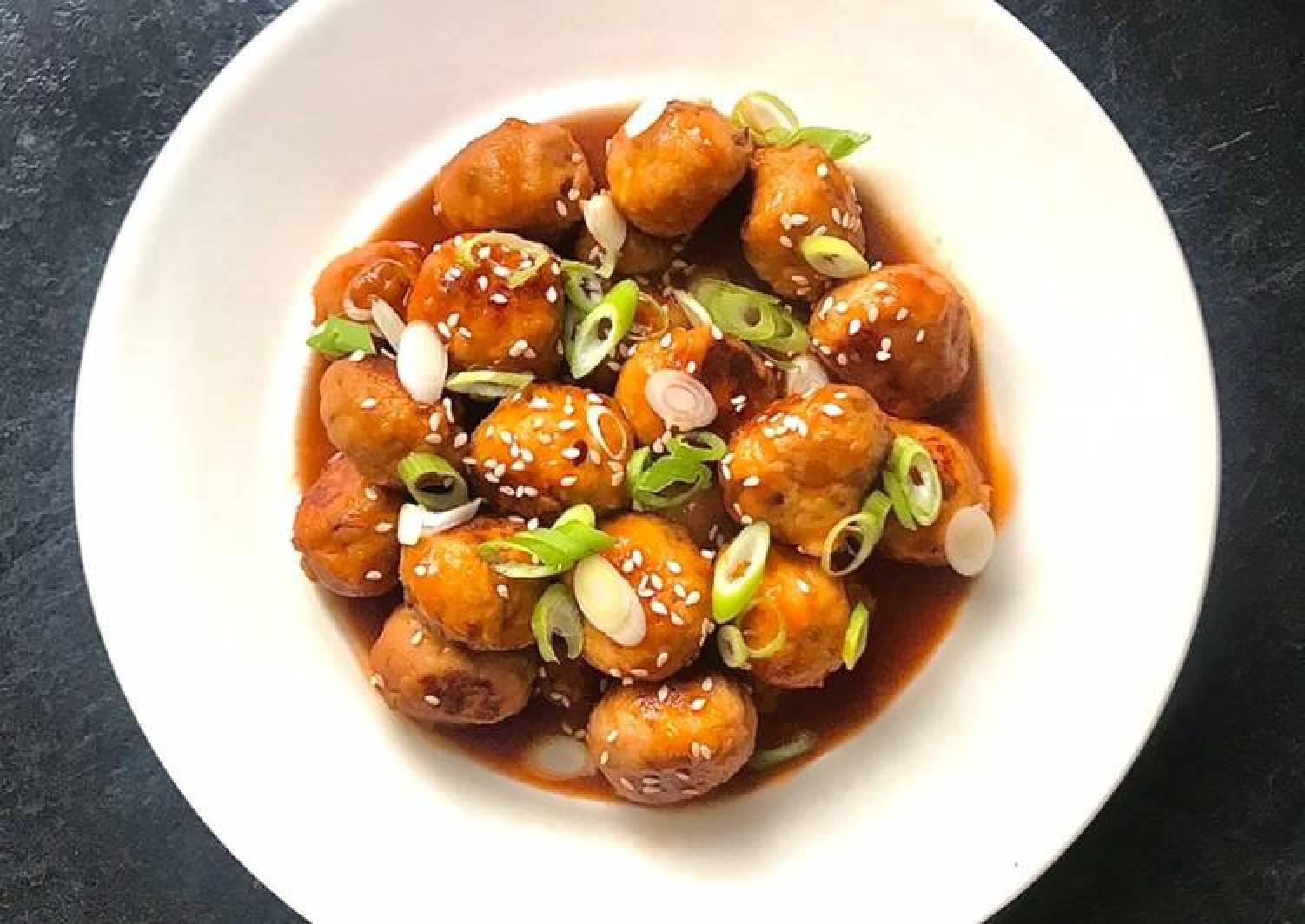 Korean Sticky BBQ Chicken Meatballs