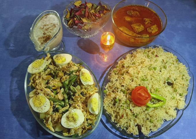 How to Prepare Ultimate Chicken Degi Qorma and Martar (peas) Pulao one hour