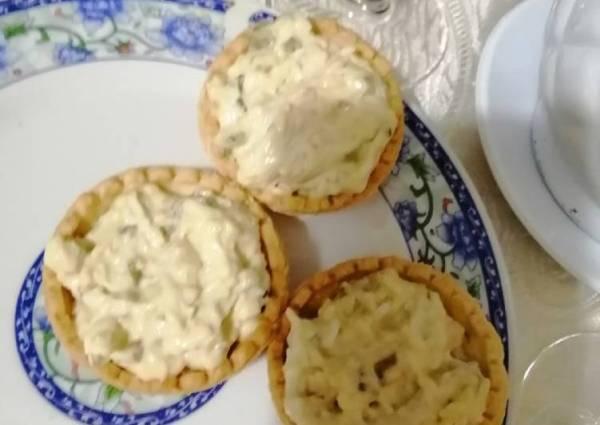 Тарталетки с печенью трески - пошаговый рецепт с фото ...