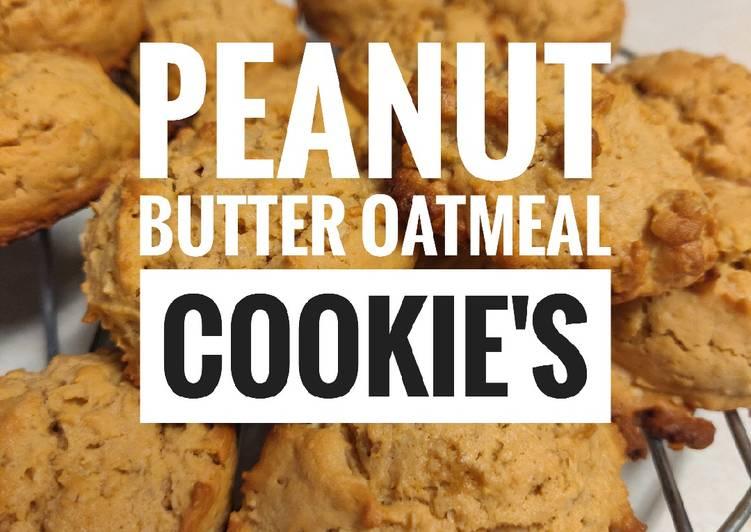 Peanut Butter Oatmeal Cookies🍪