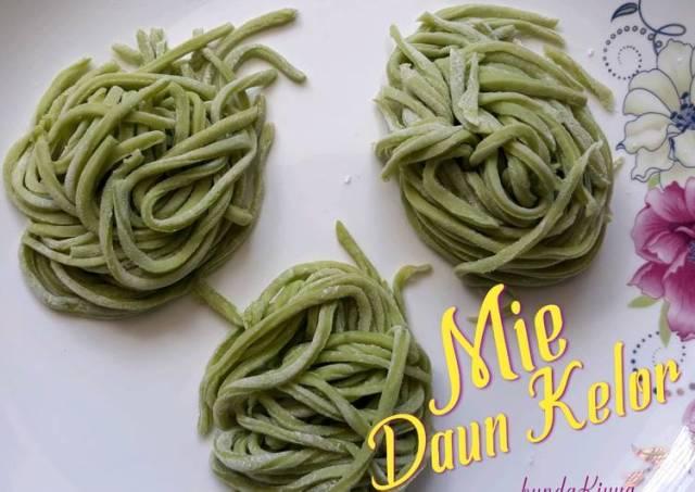 Mie daun kelor - Mie homemade - Mie sehat