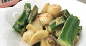 Scallop And Okra With Green Curry