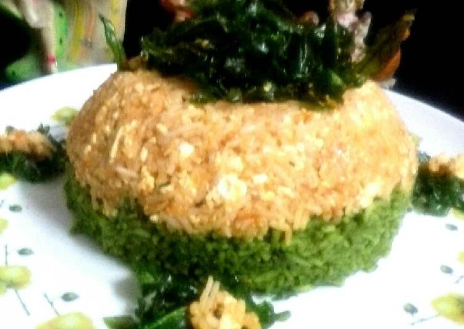 Spinach Paneer Fried Rice