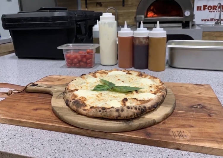 Step-by-Step Guide to Prepare Any night of the week Cook a White Pizza - Pizza Blanca Recipe in your Wood Fired Pizza Oven by ilFornino