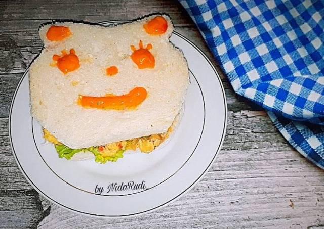 Sanwich Telur untuk anak