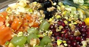 Healthy Breakfast Bowl  Nutty Fruit Salad