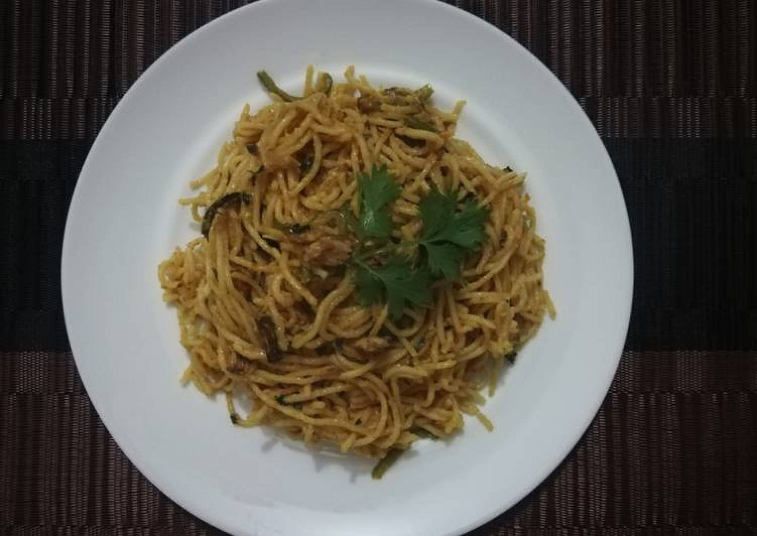 Coconut cream and fish pasta 🍝