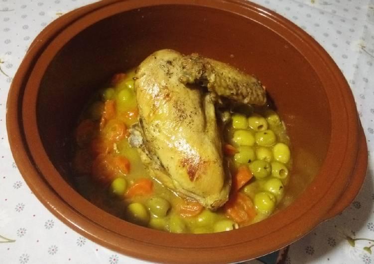 Poulet aux olives et carottes ❤