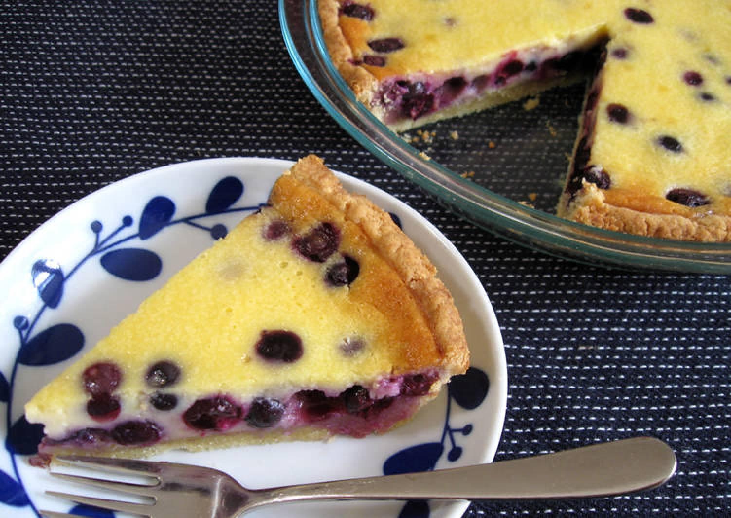 Blueberry & Sour Cream Pie