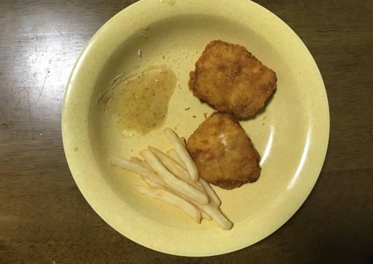 Fish and chips with Toyohira honey