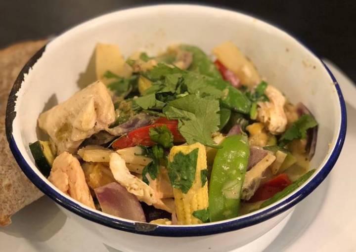 Fish jungle curry