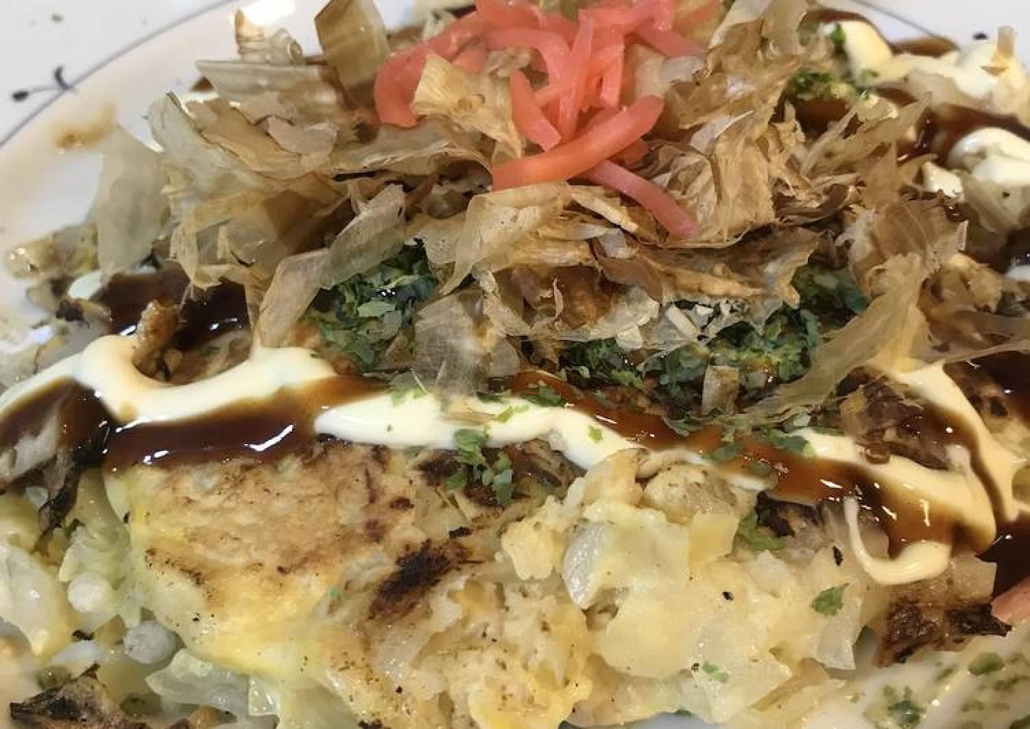Japanese Savory Pan Cake (Okonomiyaki)