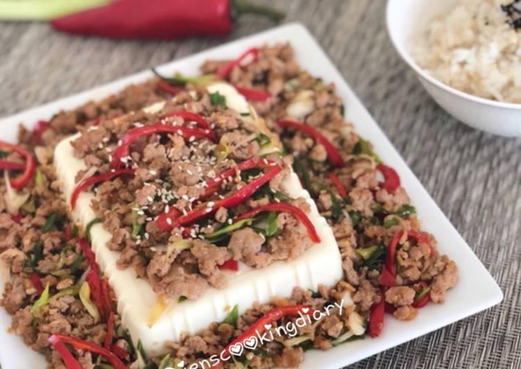 Ground Meat Steam Tofu