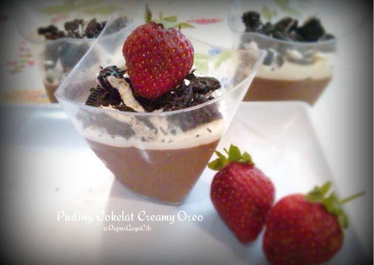 Puding Cokelat Creamy Oreo