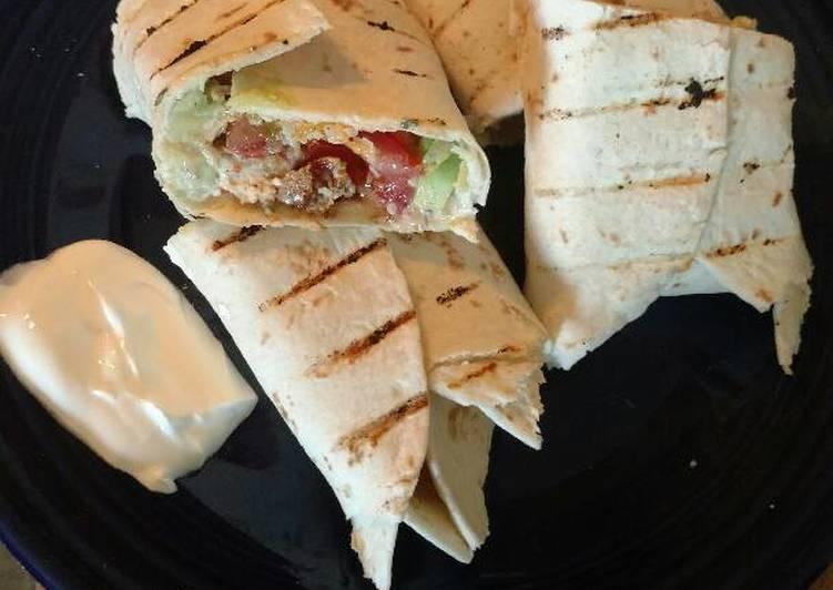 Recipe of Quick Cilantro lime chicken avocado burritos