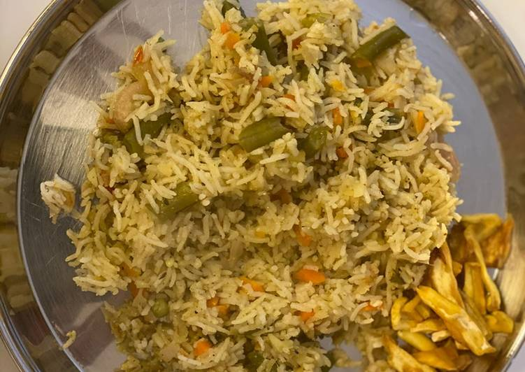 Mixed vegetable pulav