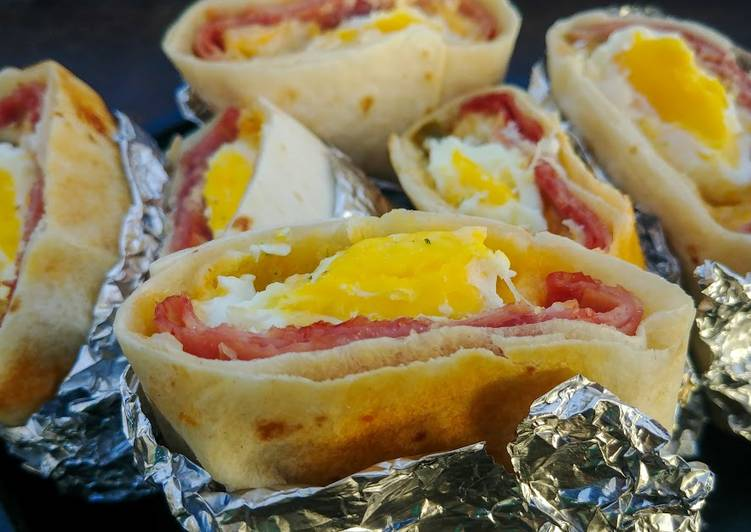 Foil Wrapped Breakfast Pockets