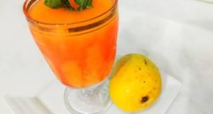 Mango juice with roohafzah